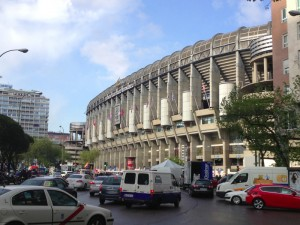 Santiago Bernabeu Madrid from Metrostation