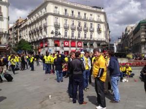 Puerta de Sol Madrid Dortmund Fans
